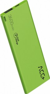 ACC+ Power Bank ACC+ THIN 3600 mAh zielony